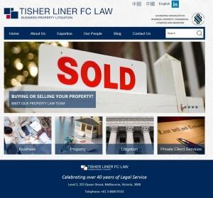 Tisher Liner FC Law's new website