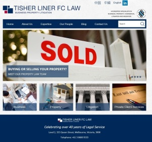 Tisher Liner FC Law's new website